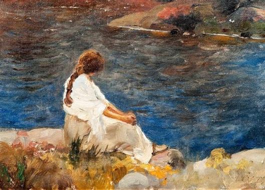 María Feodorova-Un momento tranquilo junto al río